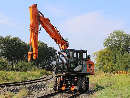 Excavator cale ferata